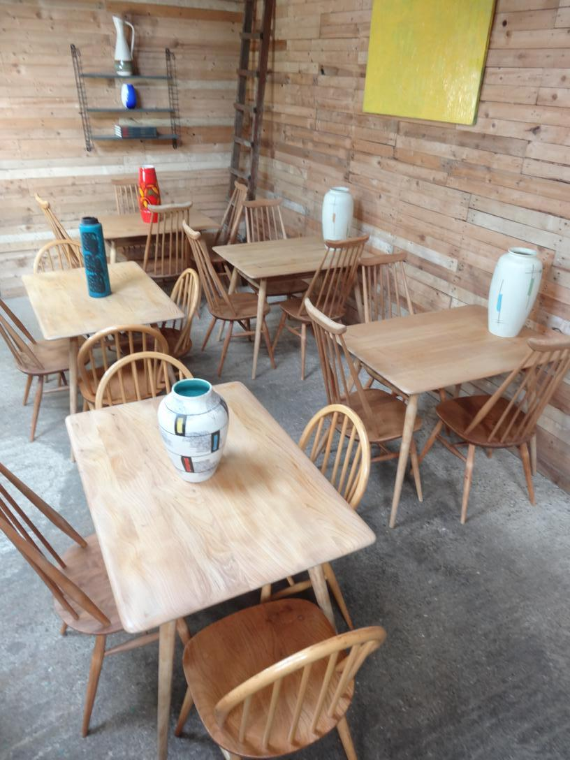 Coffee Shop / Restaurant - Ercol No. 393 All-purpose Breakfast Room or Restaurant Table and chairs (price on request)